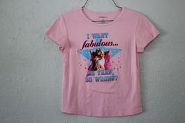 Girl's Disney I want Fabulous Pink T-Shirt Size XL - $2.96