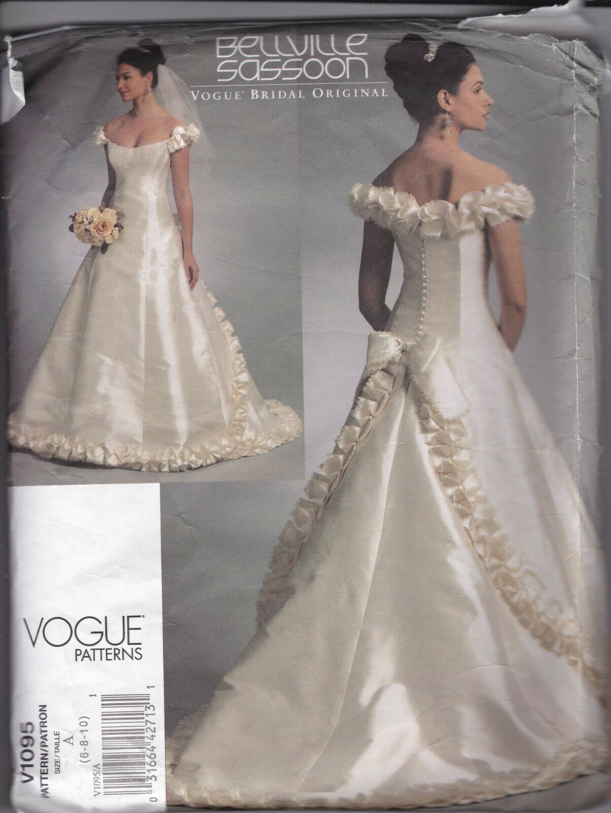 Primary image for Vogue Wedding Gown 1095 Bellville Sassoon Dress Pattern 6-10 C. 2009 Complete