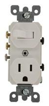 Leviton 5245-W Decora 3-Way Duplex Combination Switch/Receptacle, 1 P, 3 Wire, 1 - $18.31
