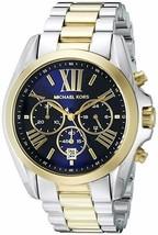 Michael Kors Men's Bradshaw Two-Tone Watch MK5976 Used Look Great Work 100% - $249.00