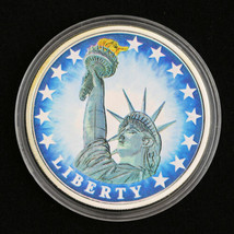 Statue of Liberty Commemorative Medallion - Colorized/Proof ~ Silver Enh... - $9.72