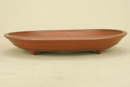 Tokoname ware Bonsai Pot Red mud oval bowl 40cm no scratch new - $195.02