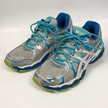 Asics Womens Gel Nimbus 16 Sz 12 Shoes Grey Blue Running Athletic T485N - $31.92