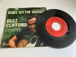 Buzz Clifford Bebé Sittin ' Boogie 60 Adolescente Balancín 45 Record 4-4... - $8.89