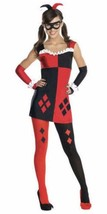 Harley Quinn Costume Womens S L Halloween Costume Dress Outfit Cosplay New - £19.18 GBP