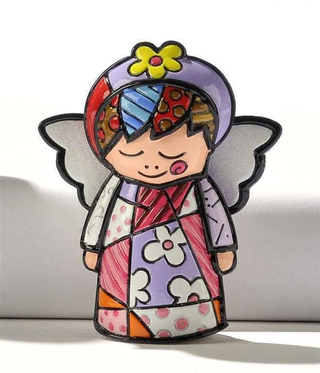 Romero Britto Mini Angel- Angel  Figurine #331388