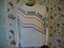 Vintage Adidas Peugeot World Team Cup Tennis Sweatshirt Size M  - $346.50