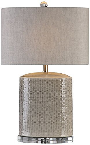 Primary image for Uttermost 27231-1 Modica - One Light Table Lamp, Textured/Light Taupe Gray/Brush