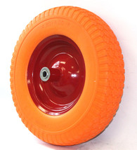 "15"" Flat Free Wheel Barrow Wheelbarrow Tire Solid Foam 5/8 Axle For Cart... - $39.59"