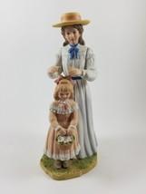 (4) VINTAGE HOMCO CERAMIC / PORCELAIN MOTHER AND DAUGHTER FIGURINE #1478 - $9.89