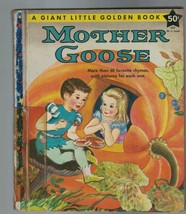 Mother Goose Giant Little Golden Book 1957 1st Print Violet LaMont - $49.58