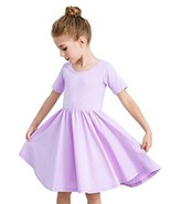 STELLE Toddler/Girls Short Sleeve Casual A-Line Dress for School Party P... - $11.55