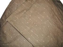 Calvin Klein Set of 2 Euro Pillow Shams Light Brown Gray & Ivory Wavy St... - $34.62