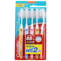 Colgate SlimSoft Deep Clean Toothbrush Pack 3+2 - $15.24