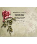 The Miracle of Friendship  Sentimental Print Perfect for Framing Friends, BFF - $11.95