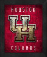"Houston Cougars ""Retro College Logo Map"" 13x16 Framed Print  - $39.95"