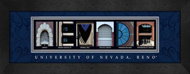 University of Nevada - Reno Officially Licensed Framed Campus Letter Art - $39.95