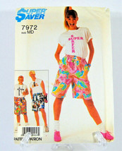Super Saver #7972 Misses, Men's and Teen-Boys' Easy Sew Surfers Size MD Cut 1987 - $12.50