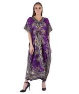Hippy Boho Maxi Long Kaftan Dress Women Caftan Top Tunic Dress Gown Purp... - $7.19