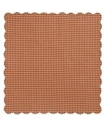 Farmhouse Kitchen Burgundy Check Scalloped Table Cloth Square Rustic Home  - $38.00