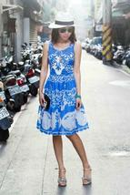 Anthropologie Azure Lace Dress Plenty by Tracy Reese Sz 0P image 9