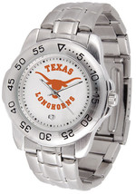 Texas Longhorns Licensed Mens Sport Steel Band Watch - $66.03
