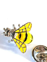 yellow bee Lapel Pin Badge / tie pin. in gift box enamel finished