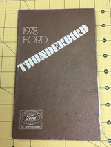Vintage 1978 Ford Thunderbird Owners Manual  - $12.69