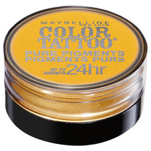 Maybelline New York  Color Tattoo 24 Hour Pure Pigments - WILD GOLD #25 New - $5.97