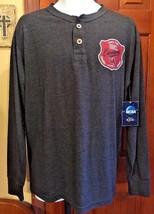 Ncaa Dark Gray Long Sleeve Sc Gamecocks Henley Shirt New W Tags Size M - $13.45