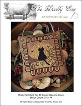 Midnight Dreamer cat cross stitch chart The Wooley Ewe  - $8.00