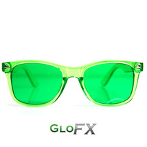 GloFX Color Infused Diffraction Glasses – Green Rave Eyewear EDM DJ Rave Club - $17.99
