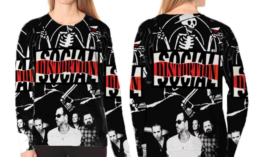 Women sweatshirt social distortion