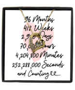 8th Anniversary Message Card Necklace, 8 Year and Counting Anniversary  - £21.78 GBP