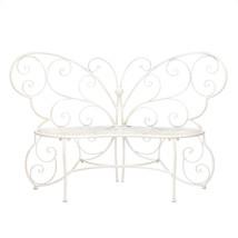 White Butterfly Garden Bench - $210.27