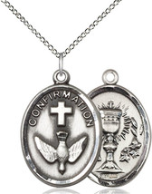 Confirmation / Chalice Medal - Sterling Silver Pendant