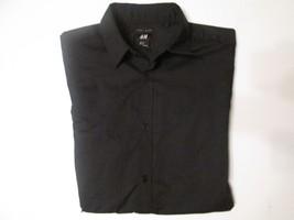 WOMENS H&M  CAREER LONG SLEEVE BLACK SHIRT SIZE M #N3 - $16.99