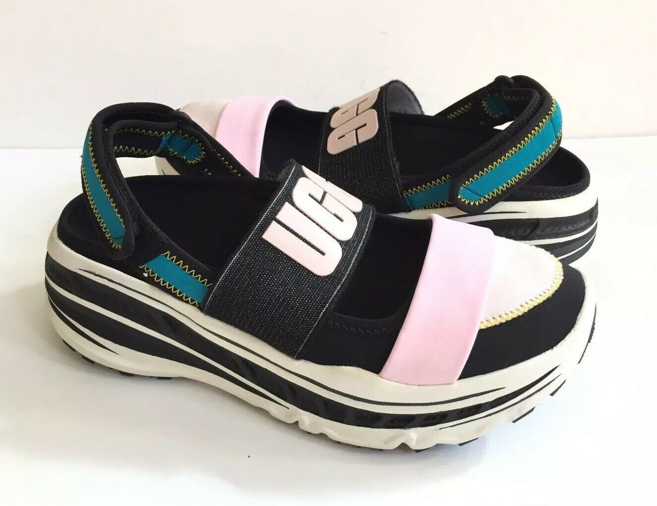 UGG FASHION BABY SLINGBACK RUNNER BLACK PLATFORM SNEAKER SHOE US 7 / EU 38 /UK 5