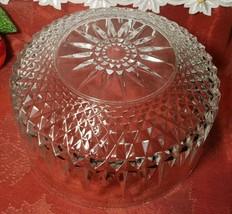 "Arcoroc Vintage Crystal Bowl 9"" w 4-1/4""h. USA. image 2"