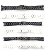 New For CHANEL Watch Strap CERAMIC Bracelet BLACK WHITE Band 14mm 16mm 19mm - $68.43