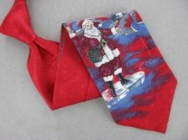Wembley Santa Huts Red Skyblue Christmas Silk Men's Necktie tie X6-44 T... - $19.79