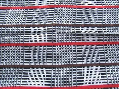 Primary image for 21″ X 44″ & 17×22 PURE SILK JACQUARD PRINT FABRIC WHITE BLK BROWN RED PLAID
