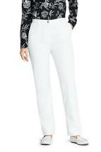 Lands' End 7 Day Elastic Back Comfort Waist Pants White 4 NEW 066132 - $31.66