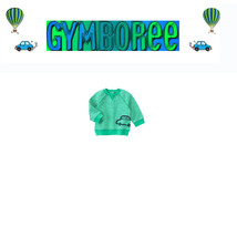 """GYMBOREE baby Boys """"We Have Arrived"""" Striped Car Pullover Crew top 3-6 / 6-12 - $15.95"""