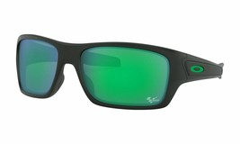 Oakley Turbine MOTO GP Sunglasses OO9263-15 Mate Black Frame W/ Jade Iri... - $181.17