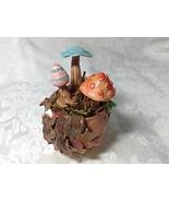 Mushrooms Vessel Handmade Polymer Clay Mushroom Sculpture OOAK Patio Dec... - $45.00