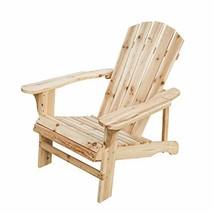 Patio Festival Wood Adirondack Lounger Chair,Outdoor Fir Unpainted Woode... - $75.90
