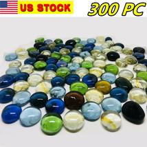 300 Pcs Mixed Color Large Glass Gems, Pebbles, Mosaic Tiles, Nuggets - $19.78