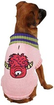 Casual Canine Lil' Monster Pet Sweater, Large, Pink - $15.81
