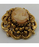 Florenza Cameo Brooch Pin and Pendant - $25.99